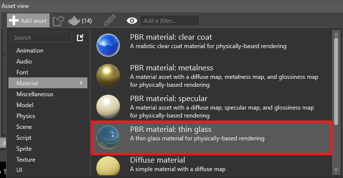 Select thin glass material
