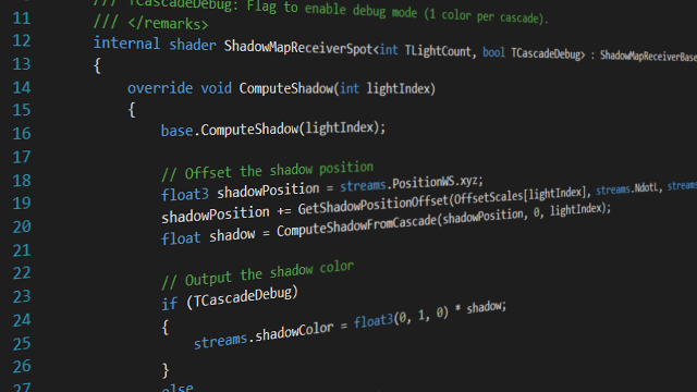 Advanced shader language